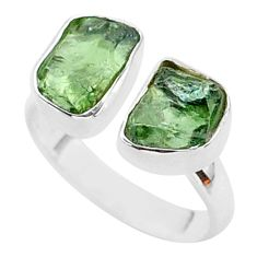 8.65cts natural apatite (madagascar) 925 silver adjustable ring size 7.5 t35016