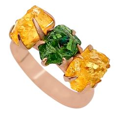 8.26cts natural apatite (madagascar) fancy 14k rose gold ring size 7 t34993