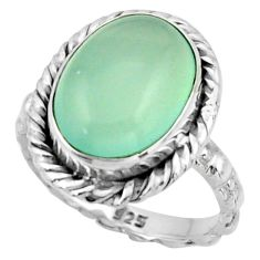 6.82cts natural aqua chalcedony 925 sterling silver ring jewelry size 6.5 d47350