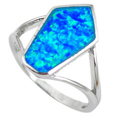 Natural australian opal (lab) 925 silver ring jewelry size 7.5 a61494 c14949