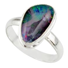 6.67cts natural australian opal triplet 925 silver ring size 10 r42535