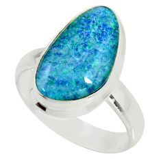 6.05cts natural australian opal triplet 925 silver solitaire ring size 7 r34153