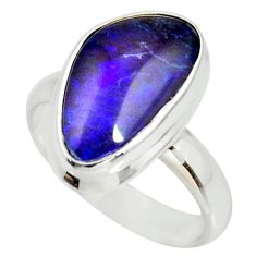 6.05cts natural australian opal triplet 925 silver solitaire ring size 7 r34263