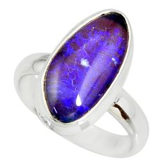 5.38cts natural australian opal triplet 925 silver solitaire ring size 7 r34272