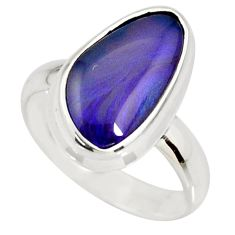 5.34cts natural australian opal triplet 925 silver solitaire ring size 7 r34275