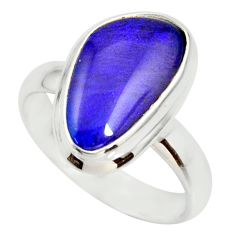 6.02cts natural australian opal triplet 925 silver solitaire ring size 7 r34294