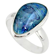 4.82cts natural australian opal triplet 925 silver solitaire ring size 7 r39314