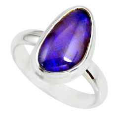 5.83cts natural australian opal triplet 925 silver solitaire ring size 9 r34270