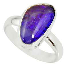 6.36cts natural australian opal triplet silver solitaire ring size 8.5 r34124