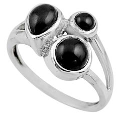 3.69cts natural black onyx 925 sterling silver ring jewelry size 6 r54509