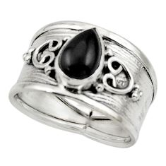 2.11cts natural black onyx 925 sterling silver ring jewelry size 8 r44291