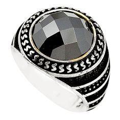 8.87cts natural black onyx topaz 925 sterling silver mens ring size 7 c11397