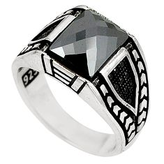 Natural black onyx topaz 925 sterling silver mens ring size 8.5 c11490