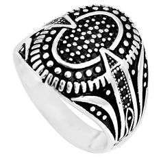 1.49cts black topaz round 925 sterling silver mens ring jewelry size 9.5 c11291