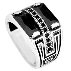 Natural black topaz 925 sterling silver mens ring jewelry size 7 c11407