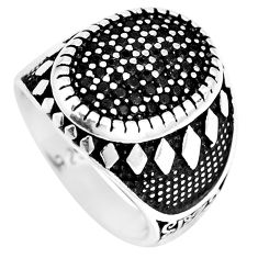 1.97cts black topaz round 925 sterling silver mens ring jewelry size 8 c11298