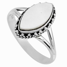 2.93cts natural blister pearl 925 silver solitaire ring jewelry size 8 r57414