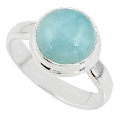 5.06cts natural blue aquamarine 925 silver solitaire ring jewelry size 7 r39787