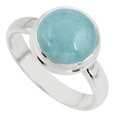 5.03cts natural blue aquamarine 925 silver solitaire ring jewelry size 7 r39798