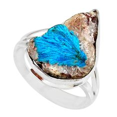 10.31cts natural blue cavansite 925 silver solitaire ring jewelry size 7 r86131