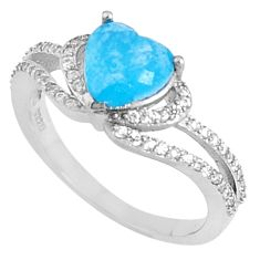 3.03cts natural blue chalcedony topaz 925 sterling silver ring size 6.5 c23623