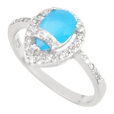 3.59cts natural blue chalcedony topaz sterling silver ring size 7 a94559 c24888