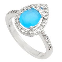 3.59cts natural blue chalcedony topaz sterling silver ring size 8 a94596 c24886