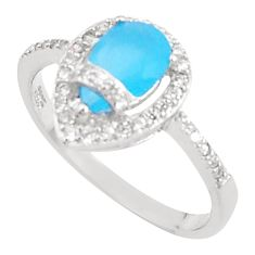 3.32cts natural blue chalcedony topaz sterling silver ring size 9 a94560 c24887