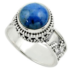 5.69cts natural blue dumorite (dumortierite) 925 silver ring size 8.5 r44242