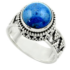 5.62cts natural blue dumorite (dumortierite) 925 silver ring size 7.5 r44246