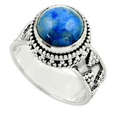 5.48cts natural blue dumorite (dumortierite) 925 silver ring size 7.5 r44251