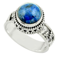 5.48cts natural blue dumorite (dumortierite) 925 silver ring size 8.5 r44260