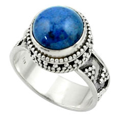 5.52cts natural blue dumorite (dumortierite) 925 silver ring size 7 r44244