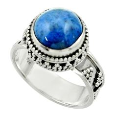 5.58cts natural blue dumorite (dumortierite) 925 silver ring size 7 r44255