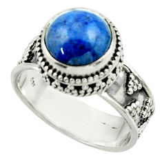 5.47cts natural blue dumorite (dumortierite) 925 silver ring size 9 r44249