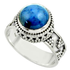 5.51cts natural blue dumorite (dumortierite) 925 silver ring size 9 r44252
