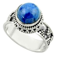 5.76cts natural blue dumorite (dumortierite) 925 silver ring size 9 r44257