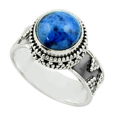 5.55cts natural blue dumorite (dumortierite) 925 silver ring size 9 r44259