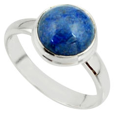 4.84cts natural blue dumortierite 925 silver solitaire ring size 8.5 r39807