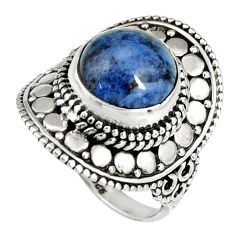 5.79cts natural blue dumortierite 925 silver solitaire ring size 7 r19520