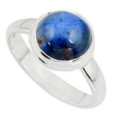 5.24cts natural blue dumortierite 925 silver solitaire ring size 8 r39818