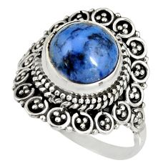 5.53cts natural blue dumortierite 925 silver solitaire ring size 9 r19507