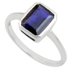 2.07cts natural blue iolite 925 sterling silver ring jewelry size 6.5 r45744