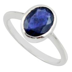 2.06cts natural blue iolite 925 sterling silver ring jewelry size 6 r45759