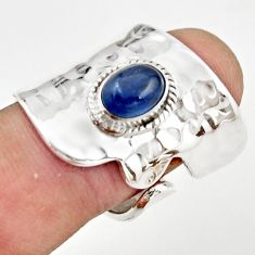 2.28cts natural blue kyanite 925 sterling silver adjustable ring size 8 r21234