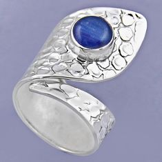 3.28cts natural blue kyanite 925 sterling silver adjustable ring size 8 r54890