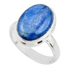 6.48cts natural blue kyanite 925 sterling silver ring jewelry size 5.5 r46721