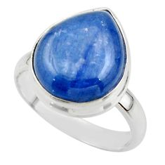 7.89cts natural blue kyanite 925 sterling silver ring jewelry size 7.5 r46724
