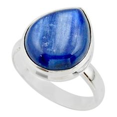 7.07cts natural blue kyanite 925 sterling silver ring jewelry size 7.5 r46728