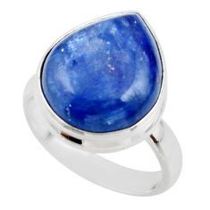 7.83cts natural blue kyanite 925 sterling silver ring jewelry size 5.5 r46729